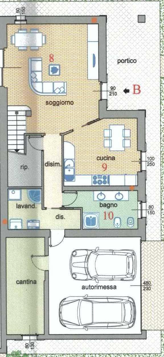 Ville bifamiliari in vendita a carpaneto piacentino pc - Dimensioni garage doppio ...